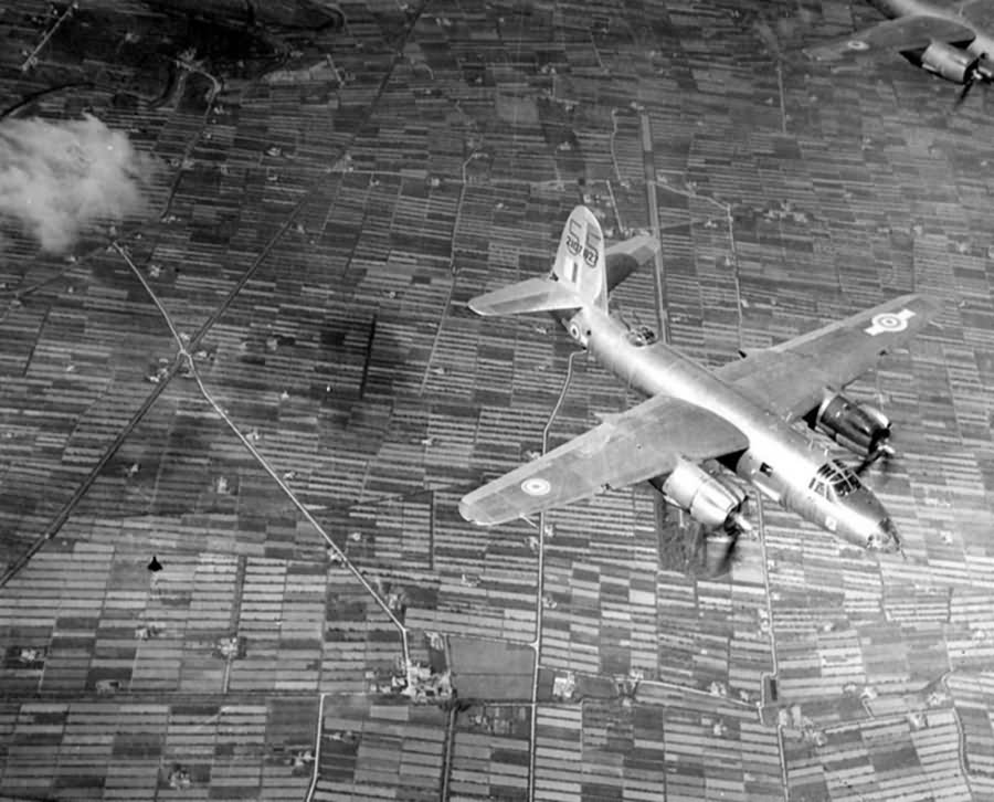 USAAF 42 107x27 B 26C Marauder French Airforce 55 over Bologne 1944 01