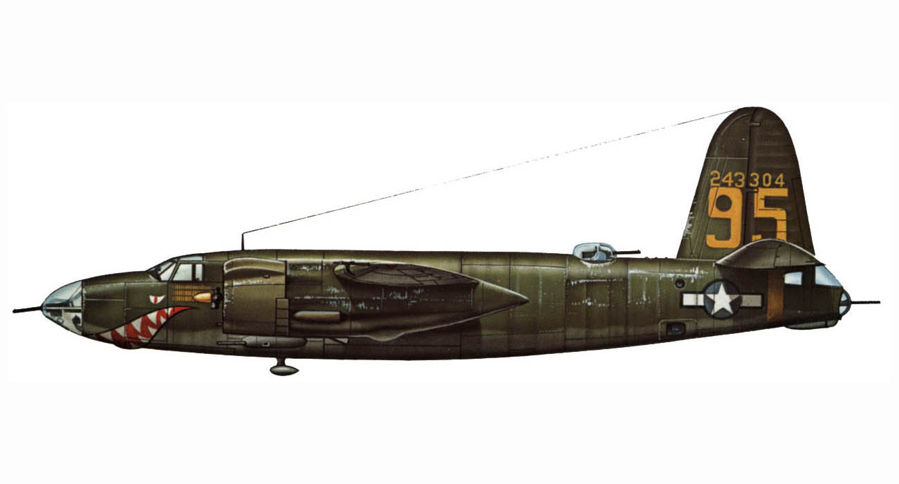 USAAF 42 43304 B 26B Marauder 320BG444BS 95 The Marlin 0A