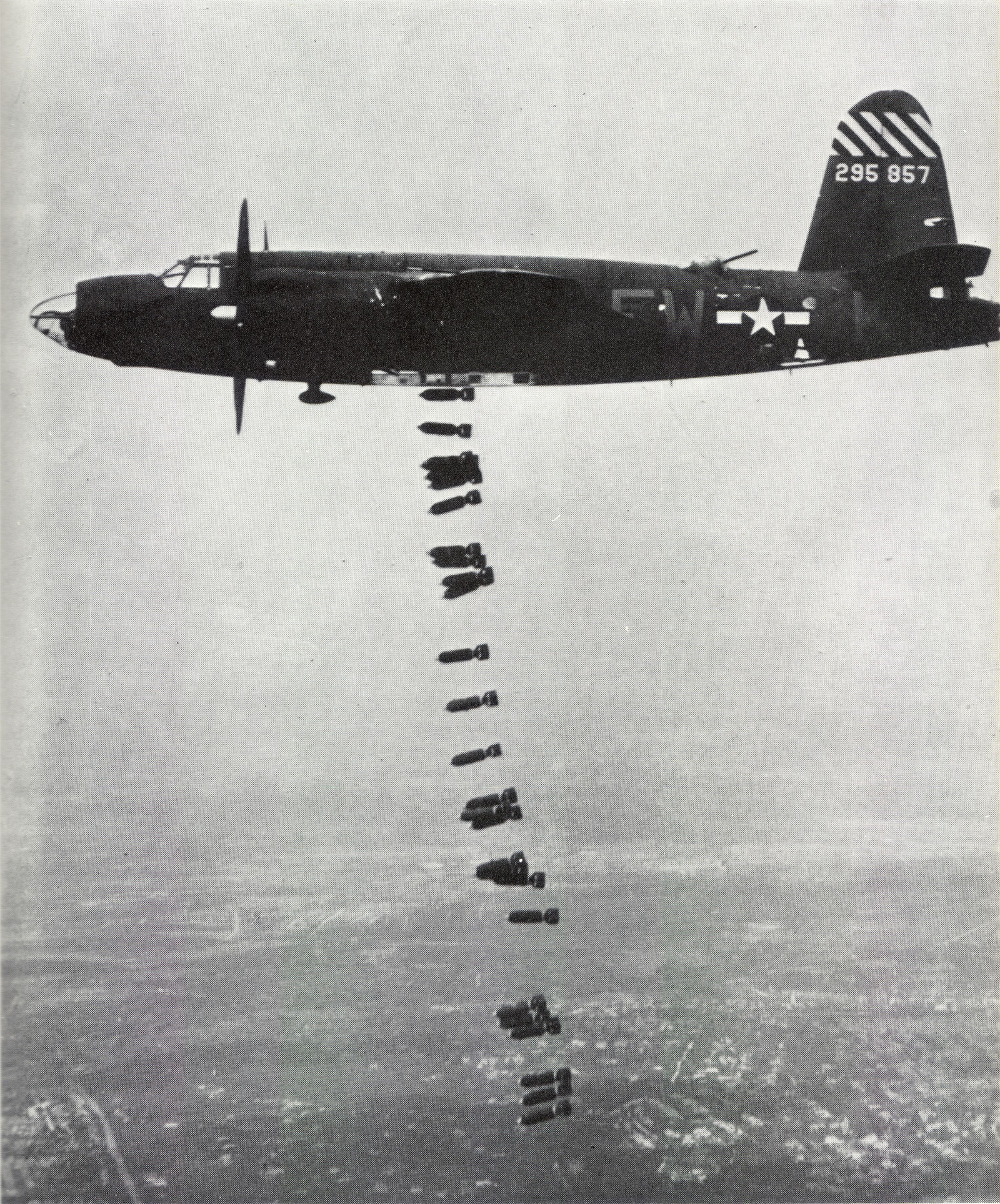 USAAF 42 95857 B 26B Marauder 387BG556BS FWK over the drop zone 02