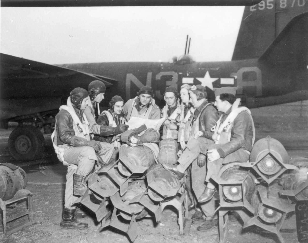 USAAF 42 95870 B 26B Marauder 344BG496BS N3A Maxwell House good to the last drop with crew 01
