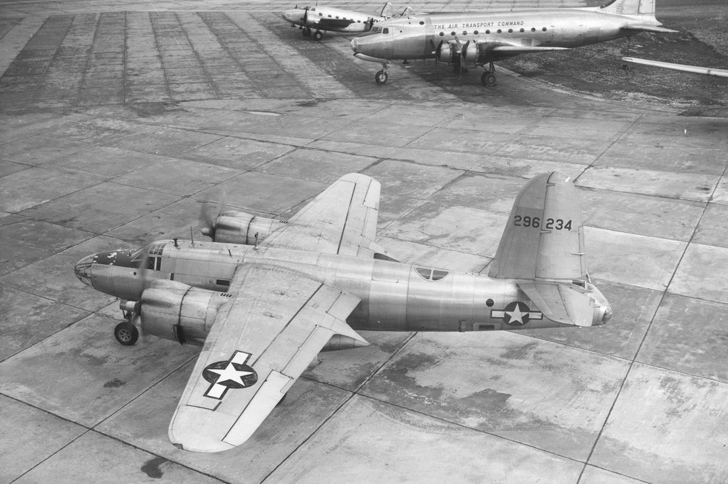 USAAF 42 96234 B 26F Marauder note top turret removed 8 Feb 1946 01