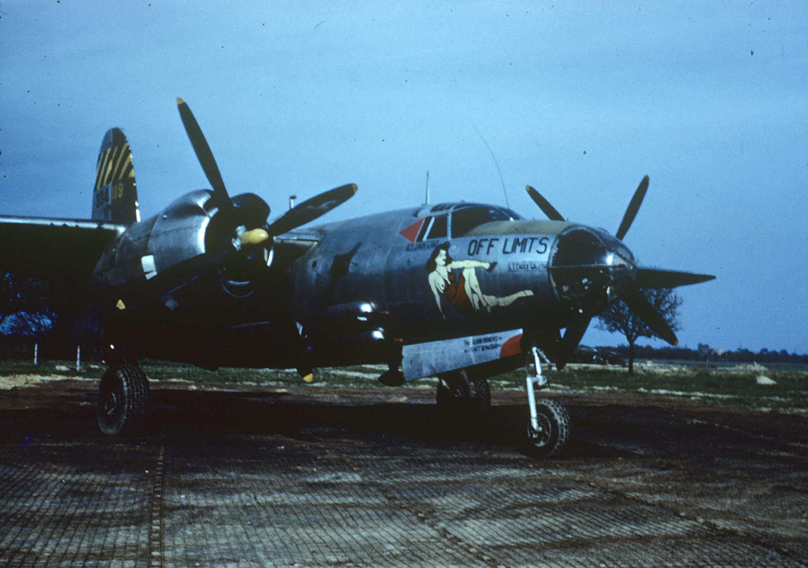 USAAF 43 34119 B 26G Marauder 387BG556BS FWT Off Limits France 1944 01