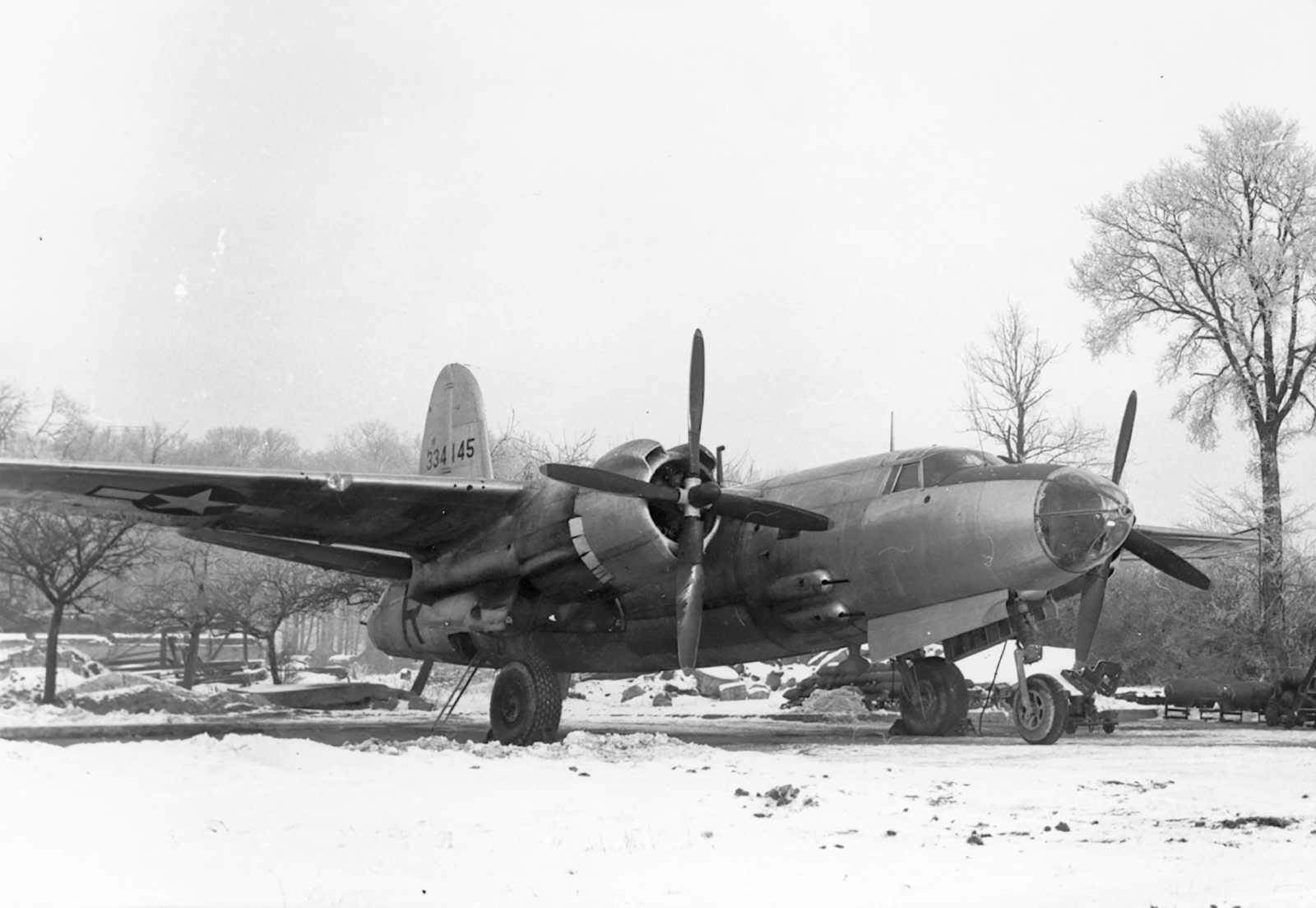 USAAF 43 34145 B 26G Marauder 322BG at Beauvais Tille France 1944 01