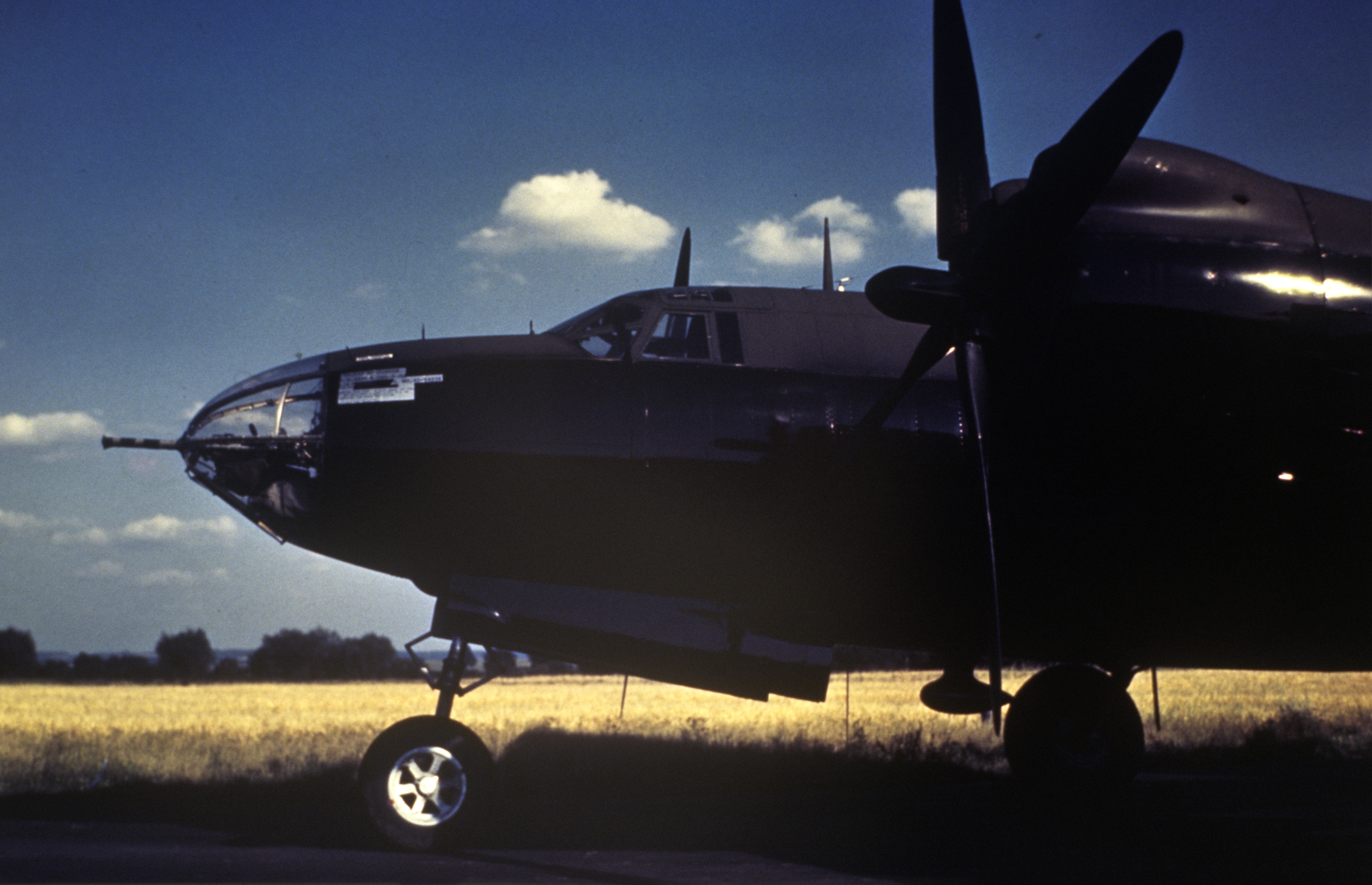 USAAF 43 34195 B 26G Marauder 25BG654BS Yellow X The Black Beauties used for night recon missions to spot V 1 installations 01