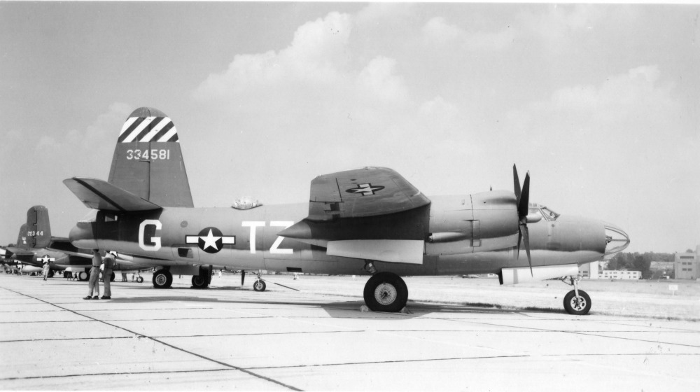 USAAF 43 34581 B 26G Marauder displayed Wright Patterson as 42 95857 387BG556BS Shootin In 01