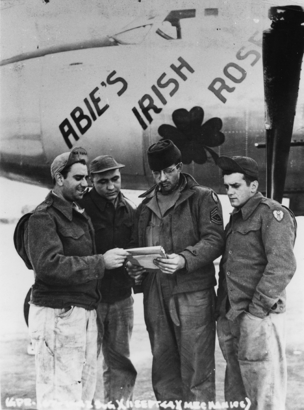 USAAF B 26 Marauder 322BG Abies Irish Rose with ground crew England 1 Sep 1944 01