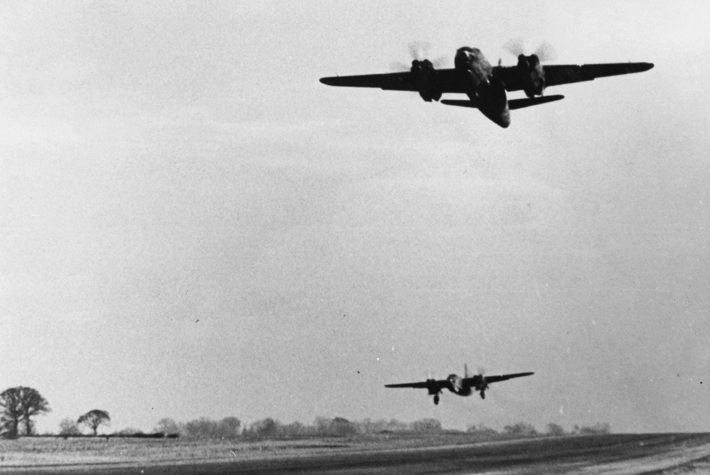 USAAF B 26 Marauder 322BG taking off on another mission 01