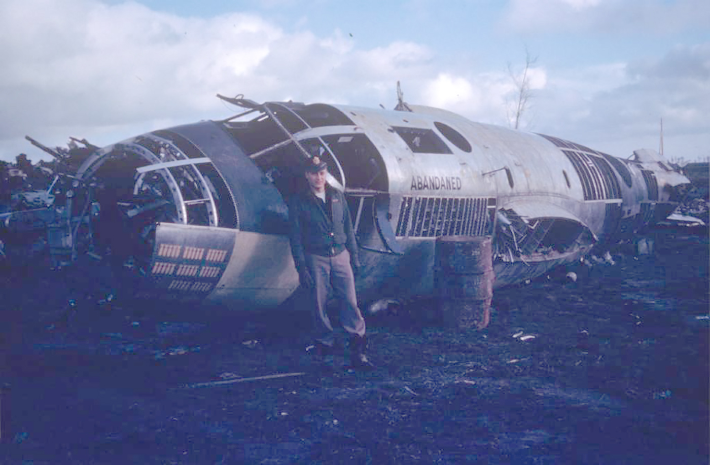 USAAF B 26 Marauder 344BG with Lt Al Eberhardt and the wreckage of his B 26 now marked abandaned 01