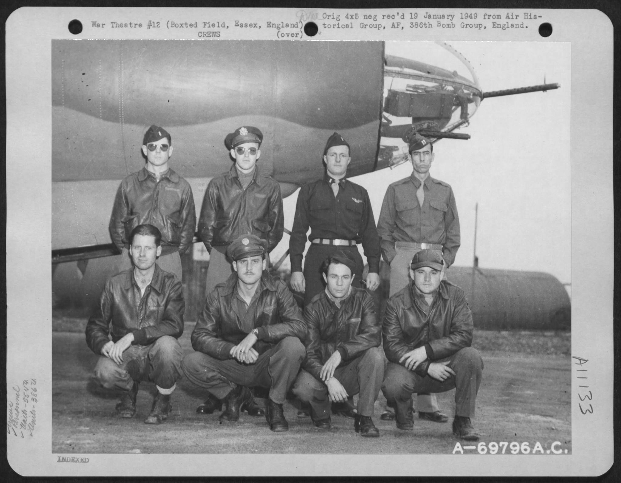 USAAF B 26 Marauder 386BG554BS with Maj White and crew at their base in Boxted Essex England 12 Sep 1943 01