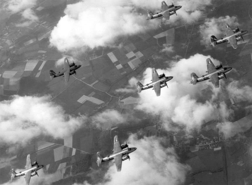 USAAF B 26 Marauder 397th Bomb Group formation 01