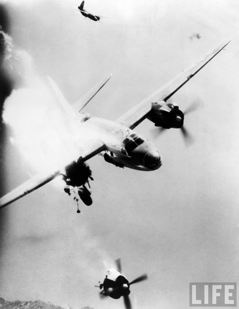 USAAF B 26 Marauder over Toulon France 1943 01