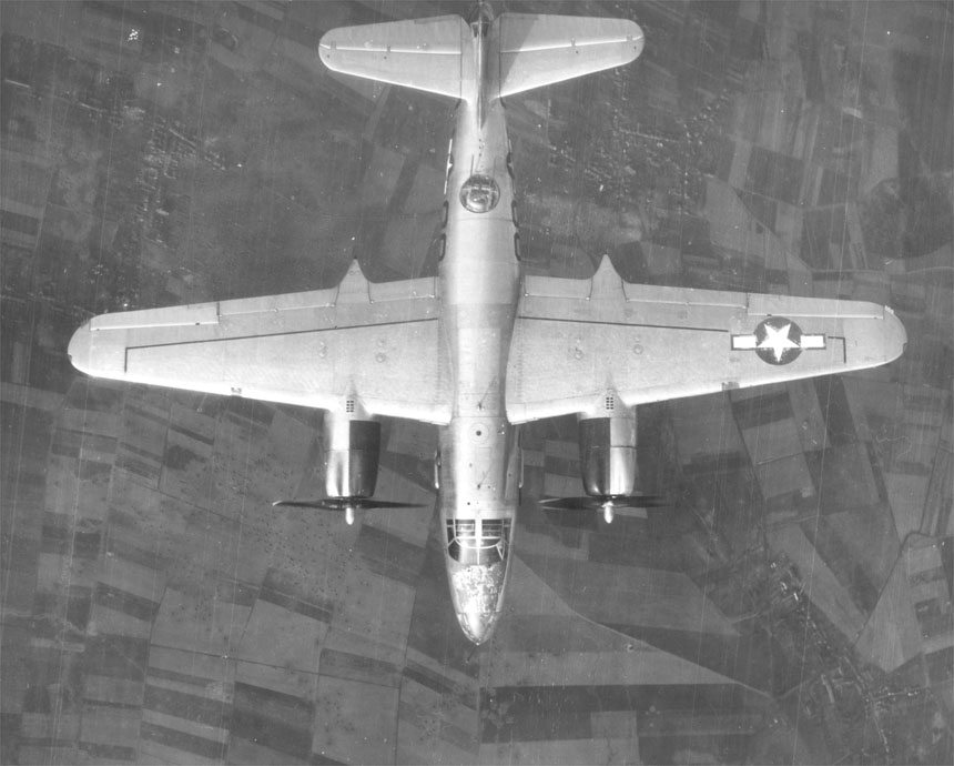 USAAF B 26 Marauder profile view from above 01