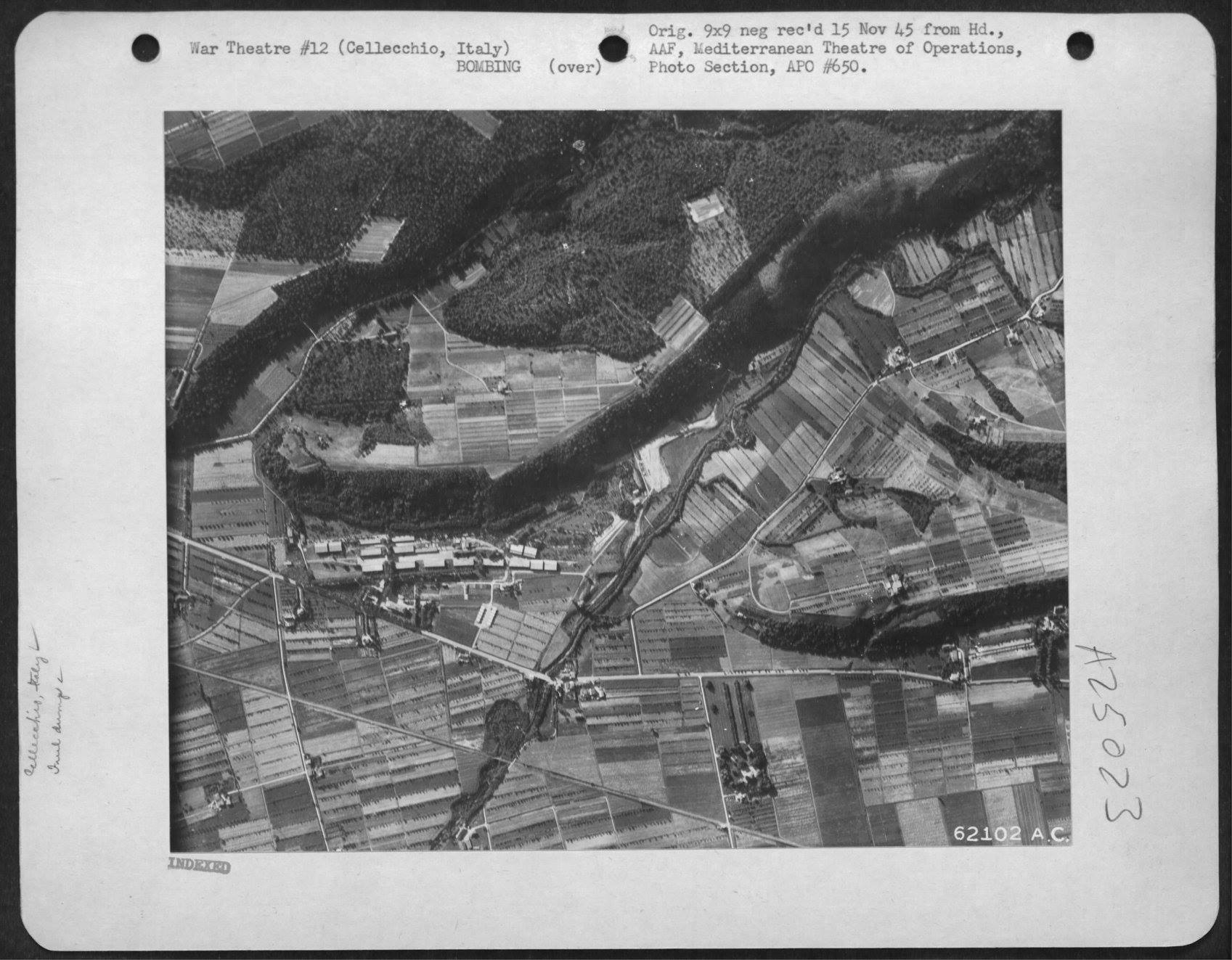 USAAF B 26 Marauders with pin point accuracy hit the Storage Dumps nr Cellecchio Italy 7 Jul 1944 01