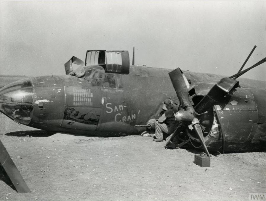 USAAF B 26B Marauder 391BG574BS 4LR Sam Cran crash landed 28 May 1944 01