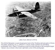 Asisbiz USAAF 41 31573 B 26B Marauder 320BG442BS Little Chum over Tiburtina RR yards Rome 01