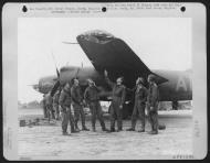 Asisbiz USAAF 41 31587 B 26B Marauder 386BG553BS ANW Bomb Boogie showing battle damage England Sep 1943 01