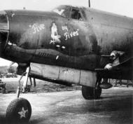 Asisbiz USAAF 41 31707 B 26B Marauder 387BG557BS KSR Five by Fives nose art 01