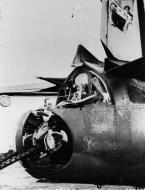 Asisbiz USAAF 41 31746 B 26B Marauder 322BG after being hit by German 20mm cannon fire 27 Aug 1943 03
