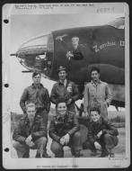Asisbiz USAAF 41 31777 B 26B Marauder 322BG450BS ERC Zombie III with crew Andrews Field Essex England 4 Oct 1943 01