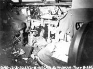 Asisbiz USAAF 41 34719 B 26C Marauder 323BG455BS YUA Miss Emily battle damage cockpit England 2 Aug 1943 01