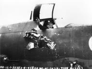 Asisbiz USAAF 41 34719 B 26C Marauder 323BG455BS YUA Miss Emily battle damage cockpit England 4 Aug 1943 03