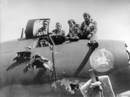 Asisbiz USAAF 41 34719 B 26C Marauder 323BG455BS YUA Miss Emily battle damage cockpit England 4 Aug 1943 04