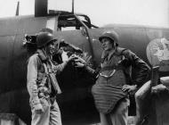 Asisbiz USAAF 41 34719 B 26C Marauder 323BG455BS YUA Miss Emily showing flak damage England 18 Aug 1943 01