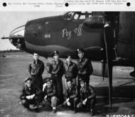 Asisbiz USAAF 41 34971 B 26C Marauder 386BG554BS RUQ Pay Off with crew Boxted Essex England 20 Aug 1943 01