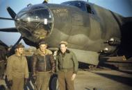 Asisbiz USAAF 41 34997 B 26C Marauder 323BG454BS RJP Flaming Mamie with 2Lt William Phelan and Lt George Spradling 01