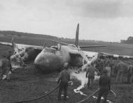 Asisbiz USAAF 41 35247 B 26C Marauder 386BG552BS RGZ Carefree Carolyn belly landing Dunmow Essex England 15 Jun 1944 02