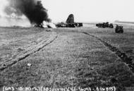 Asisbiz USAAF 42 96093 B 26B Marauder 397BG596BS X2V blew tire on takeoff and gear collapsed and burned 28 Jul 1944 02