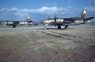 Asisbiz USAAF 43 34181 B 26G Marauder 344BG495BS Y5O Lak a Nookie prepares for take off 01