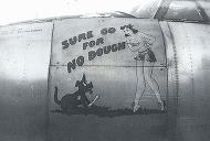 Asisbiz USAAF 43 34200 B 26G Marauder 394BG585BS 4TA Sure Go For No Dough nose art 01