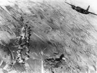 Asisbiz USAAF B 26 Marauder 322BG Lil Pork Chop after bombing a Luftwaffe base at St Andre de lEure France 3 Nov 1943 01