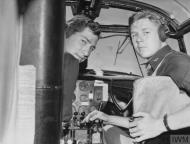 Asisbiz USAAF B 26 Marauder 386BG Lts James T Wilson and Robert J Owen in the cockpit of their Marauder England 19 Aug 1943 01