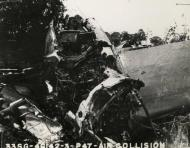 Asisbiz USAAF B 26 Marauder 394BG after a mid air collision with a P 47 Thunderbolt 56FG62FS UN B Lt Elliott 17 May 1944 01