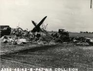 Asisbiz USAAF B 26 Marauder 394BG after a mid air collision with a P 47 Thunderbolt 56FG62FS UN B Lt Elliott 17 May 1944 02