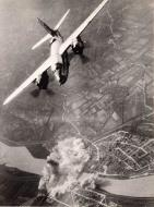 Asisbiz USAAF B 26 Marauder Bomb strike bridge over Legnano in Northern Italy 01