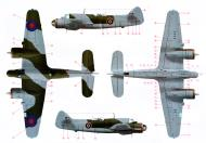Asisbiz Color profile showing RAF camouflage used for a Bristol Beaufighter MkX 0A