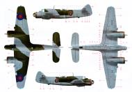 Asisbiz Very large color profile showing RAF camouflage used for a Bristol Beaufighter MkX 0A