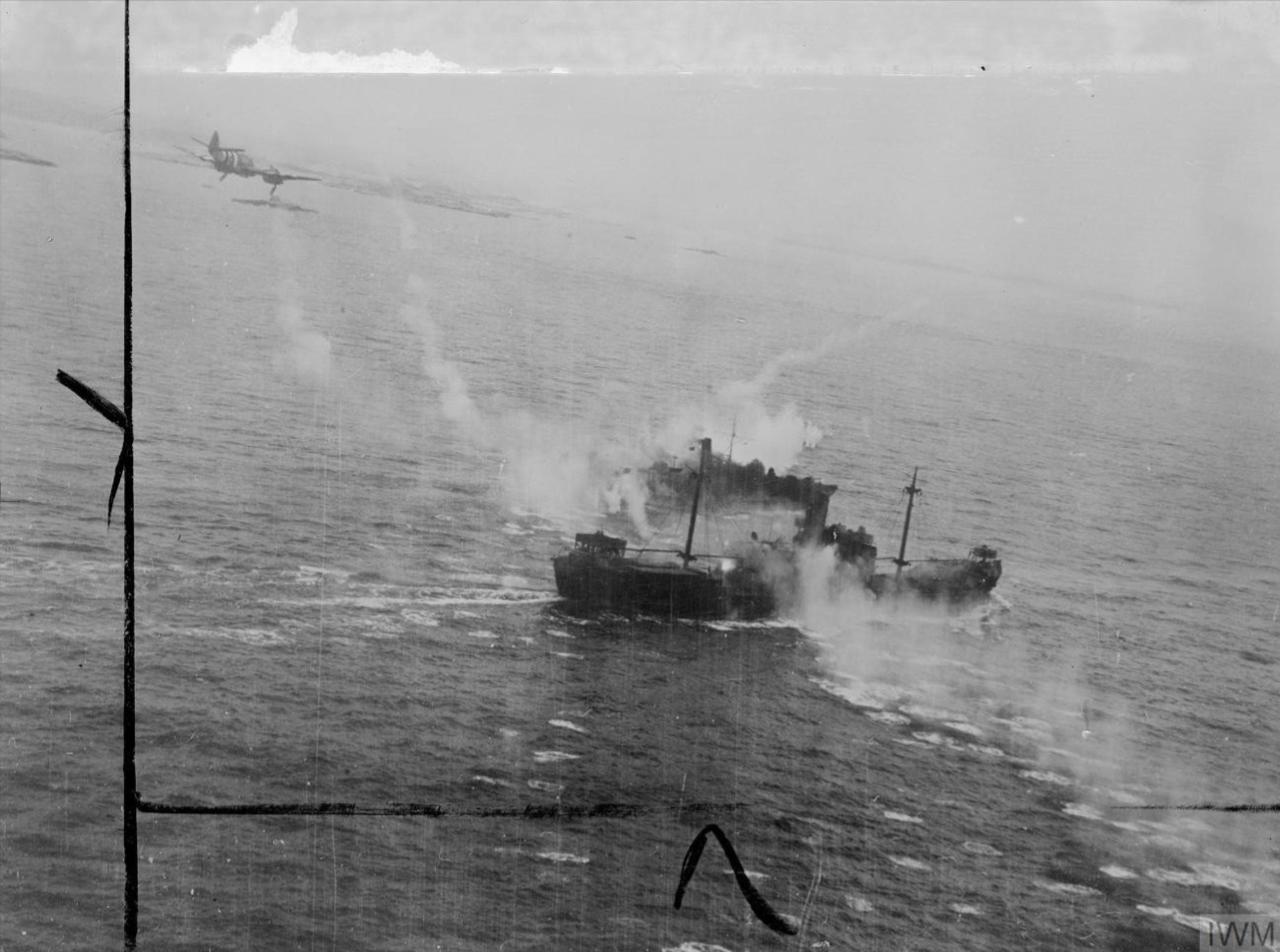 Beaufighter Langham Strike Wing attack convoy off southern coast of Norway 15 Jul 1944 IWM C4469