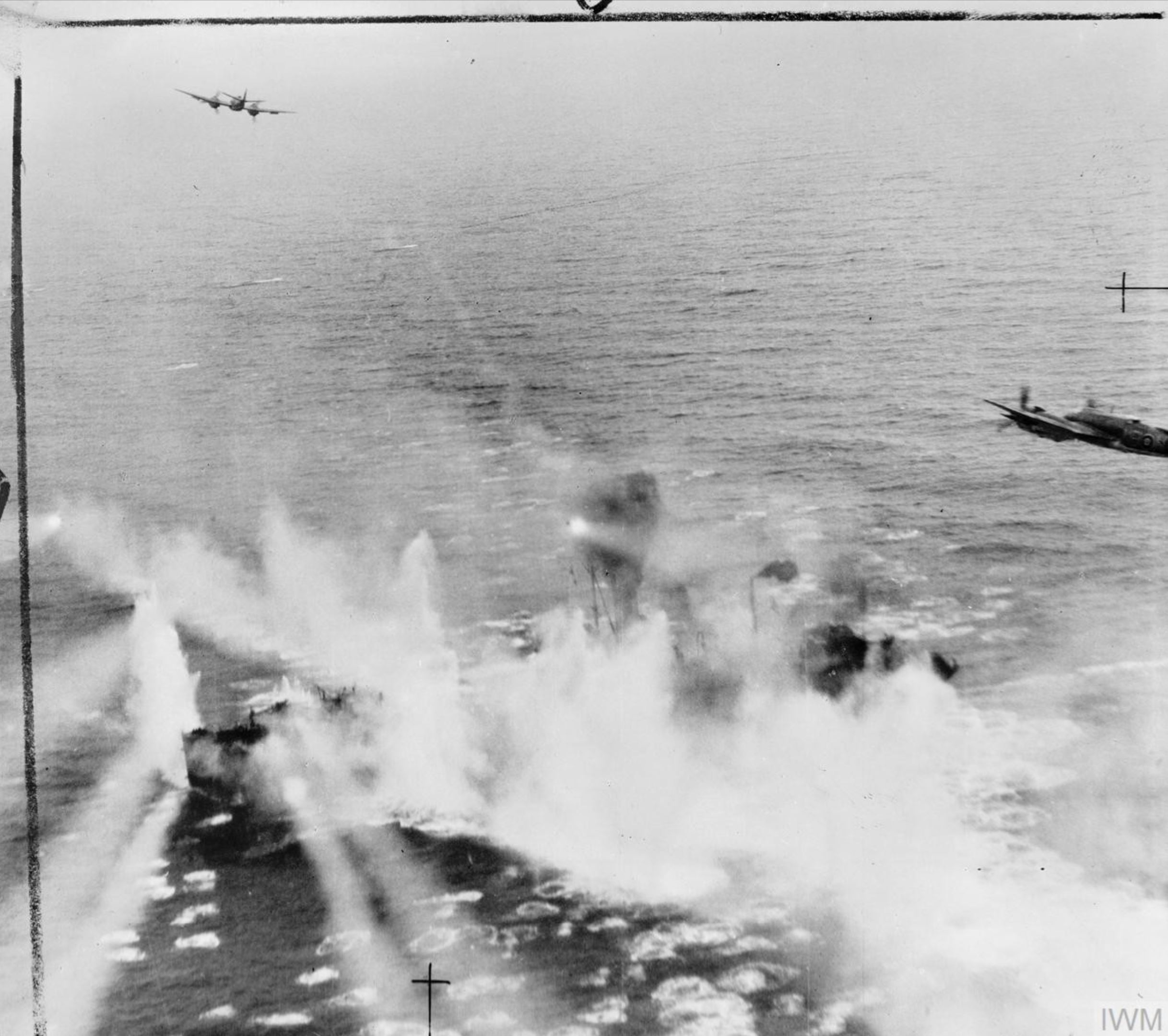 Beaufighter North Coates Strike Wing attack ships off the Dutch coast east of Ameland IWM C4312
