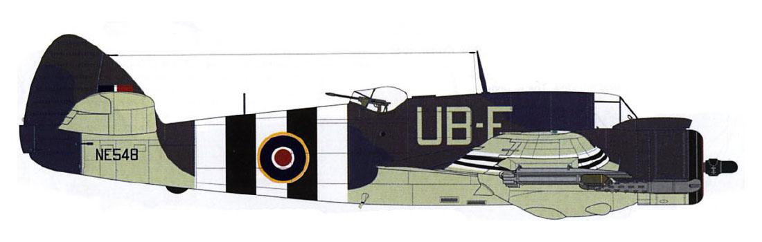 Beaufighter TFX RAAF 455Sqn UBE NE543 RAF Langham Norfolk June 1944 Profile 0A