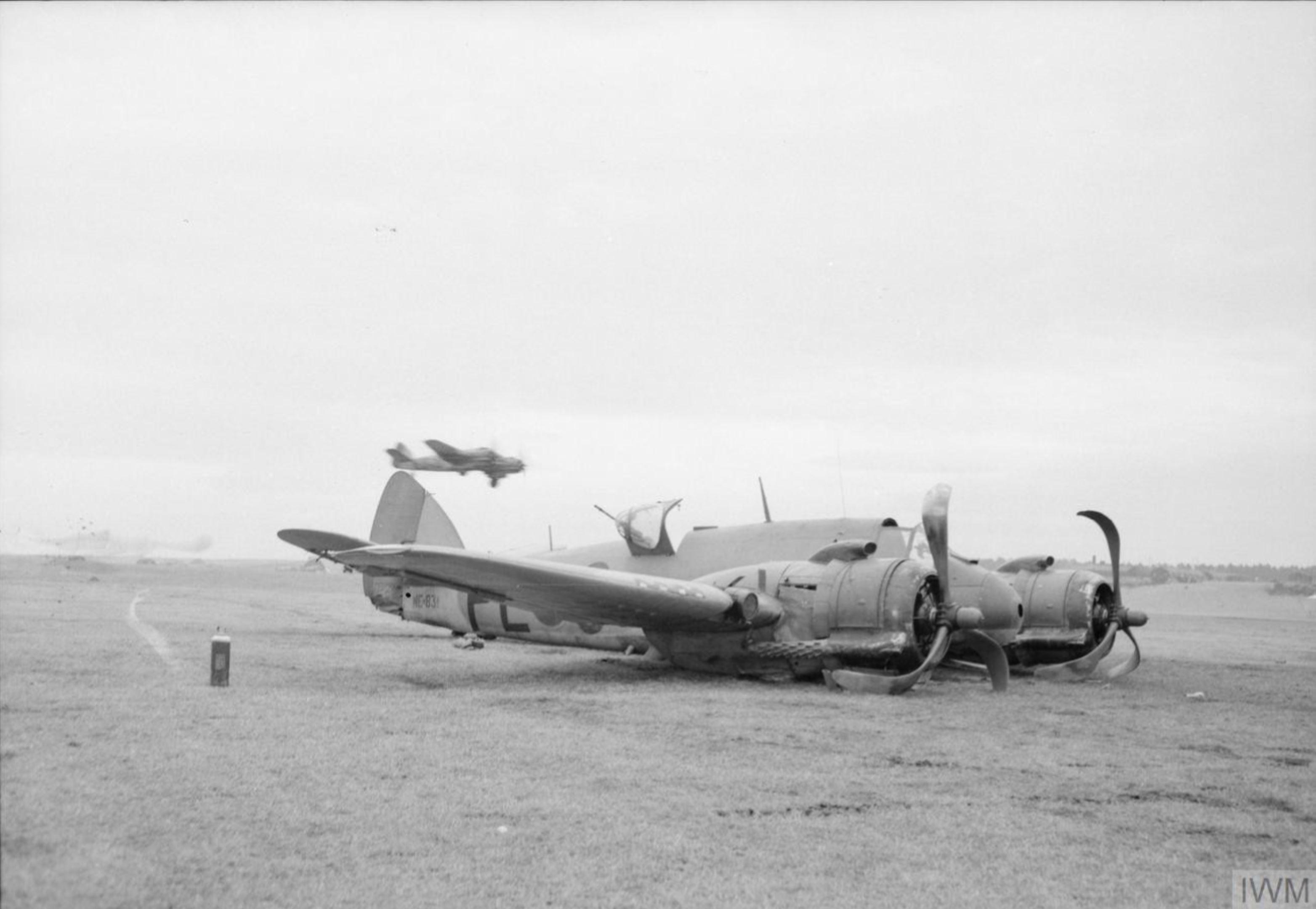 Beaufighter TFX RAF 144Sqn PLO NE831 damaged attacking German destroyer Z 33 Fordefjord Norway 9 Feb 1945 IWM CH17875
