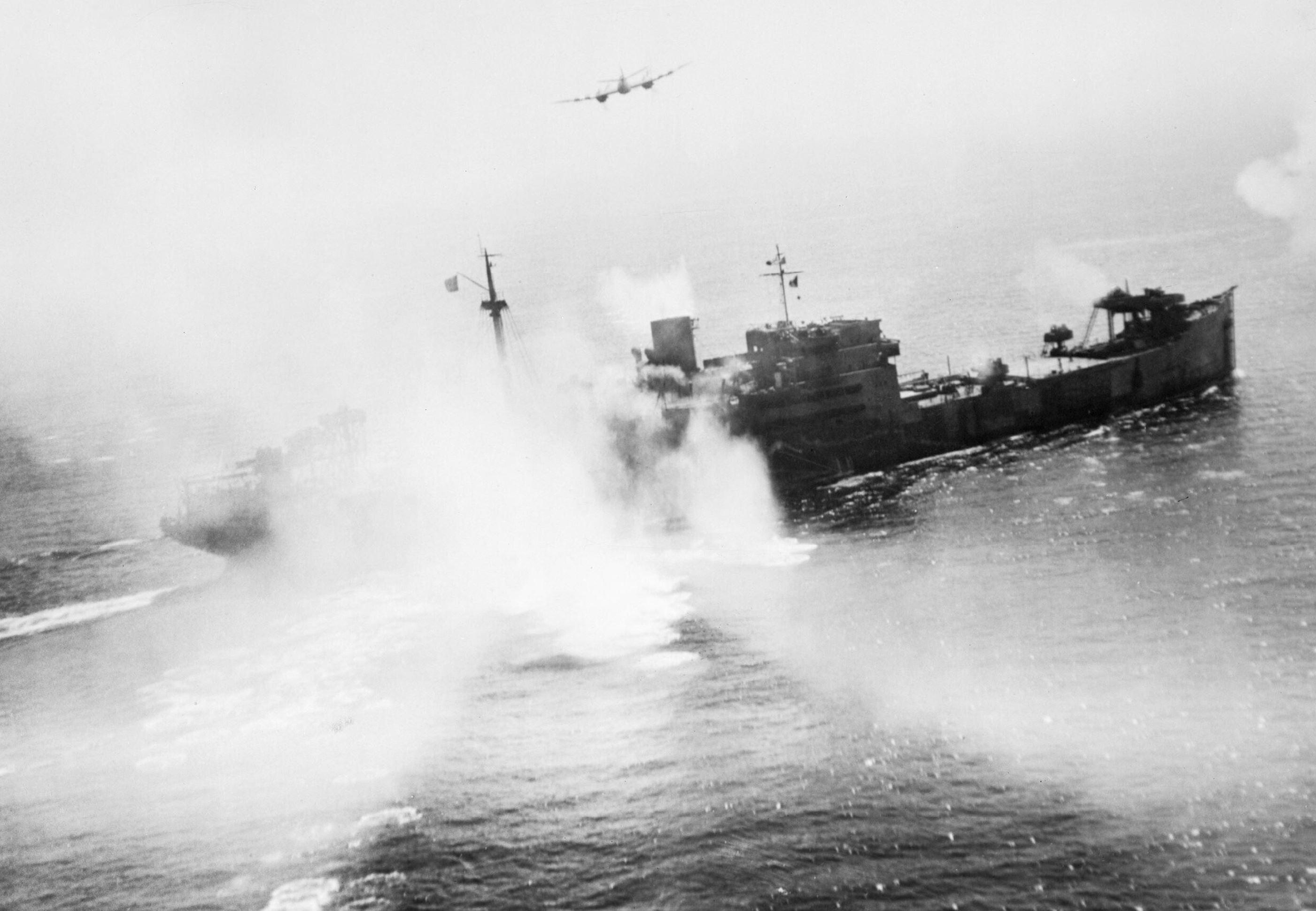 Beaufighter TFX RAF 236Sqn severly crippled the Sauerland off La Pallice 12 Aug 1944 IWM C4546