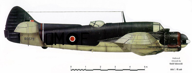 Beaufighter TFX RAF 254Sqn QMF RD579 Coastal Command England 1944 Profile 0A