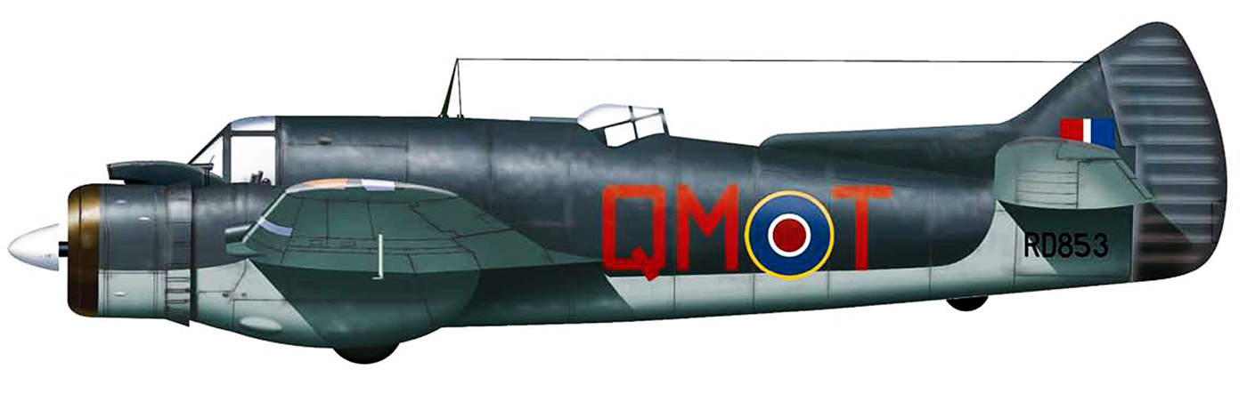 Beaufighter TFX RAF 254Sqn QMT RD853 Coastal Command North Coates 1944 Profile 0A