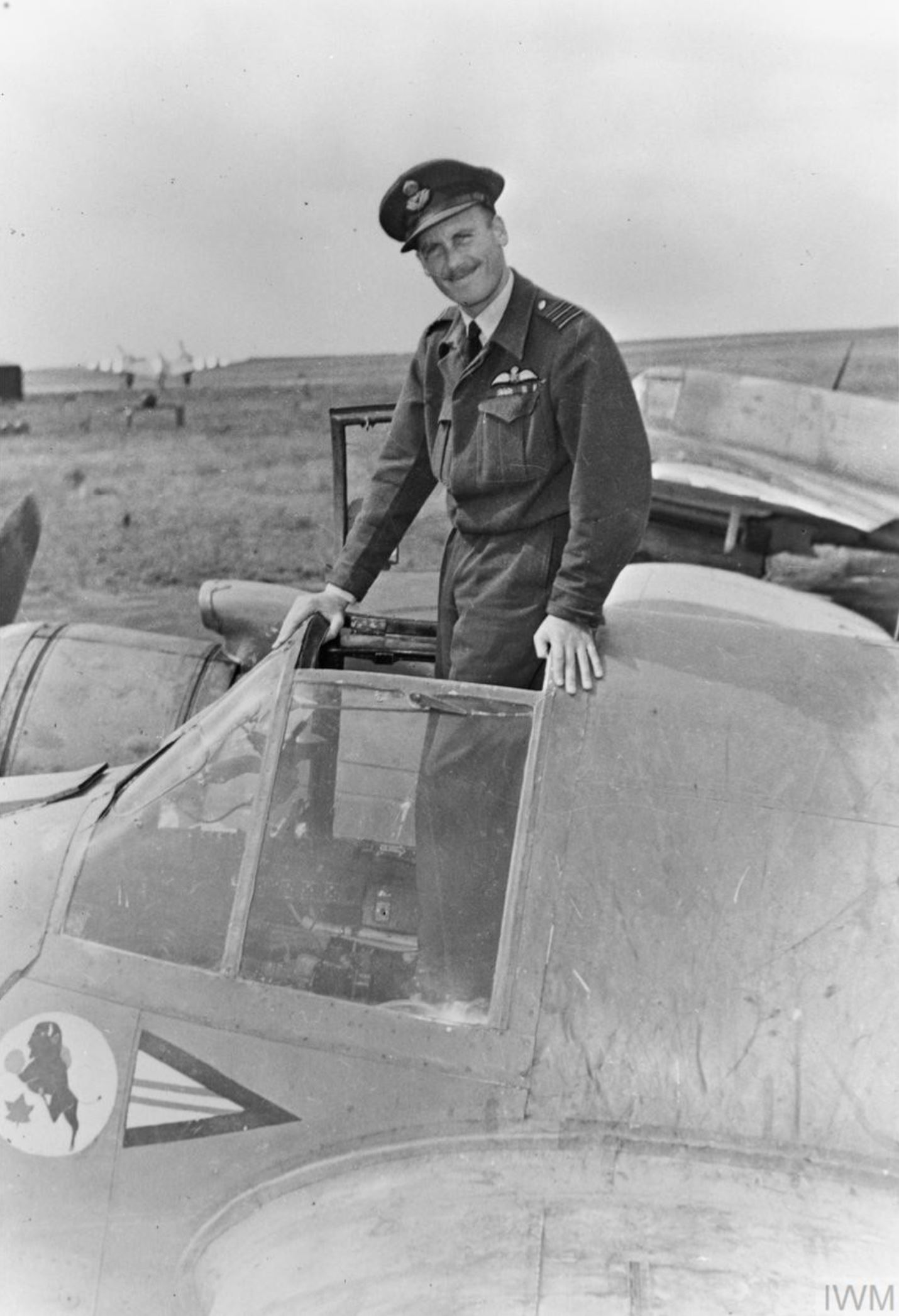 Beaufighter TFX RCAF 404Sqn Wing Commander A K Gatward CO of No 404 at Davidstow Moor Cornwall IWM MH7660