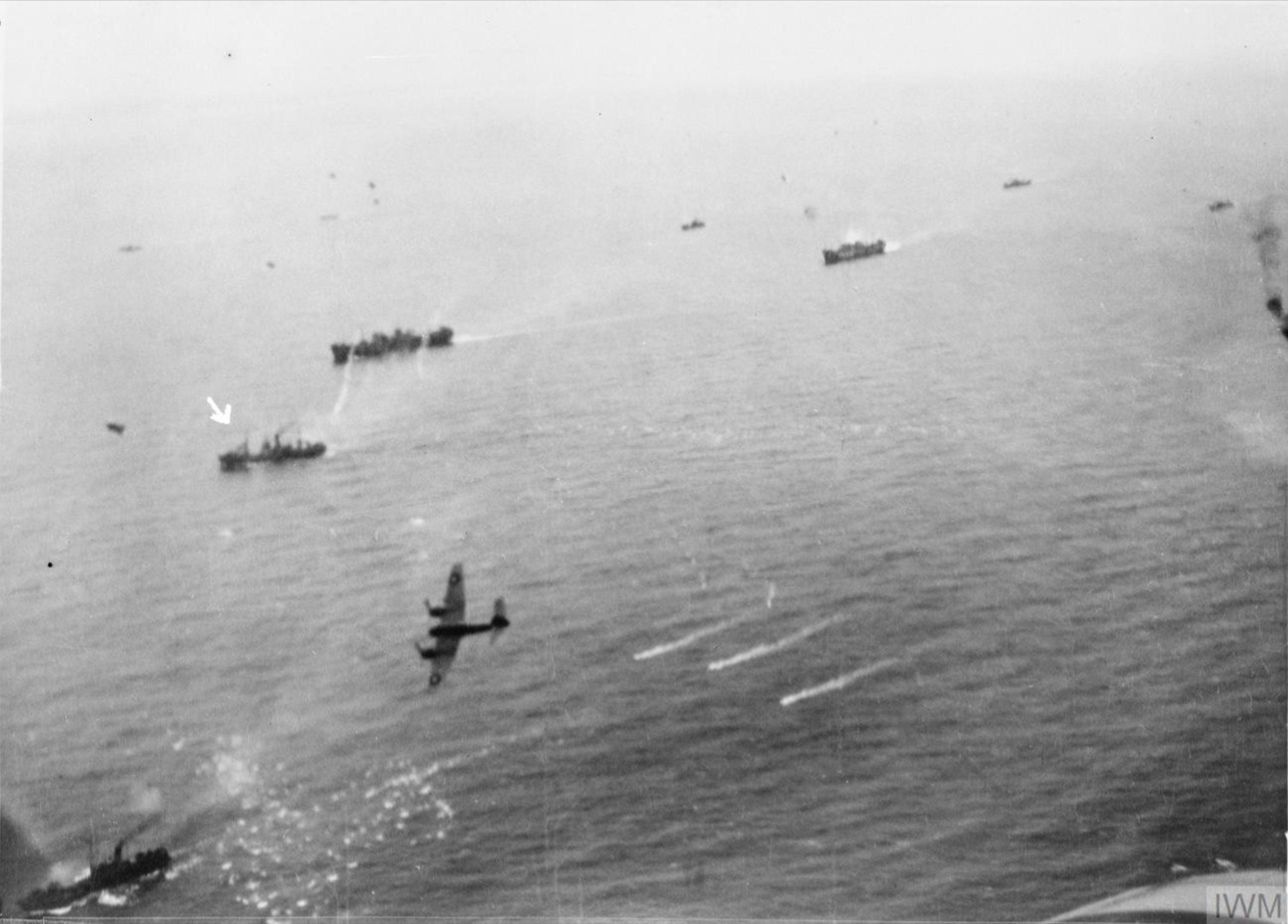 Beaufighter VICs North Coates Strike Wing attack convoy off Ijmuiden Holland IWM C3845