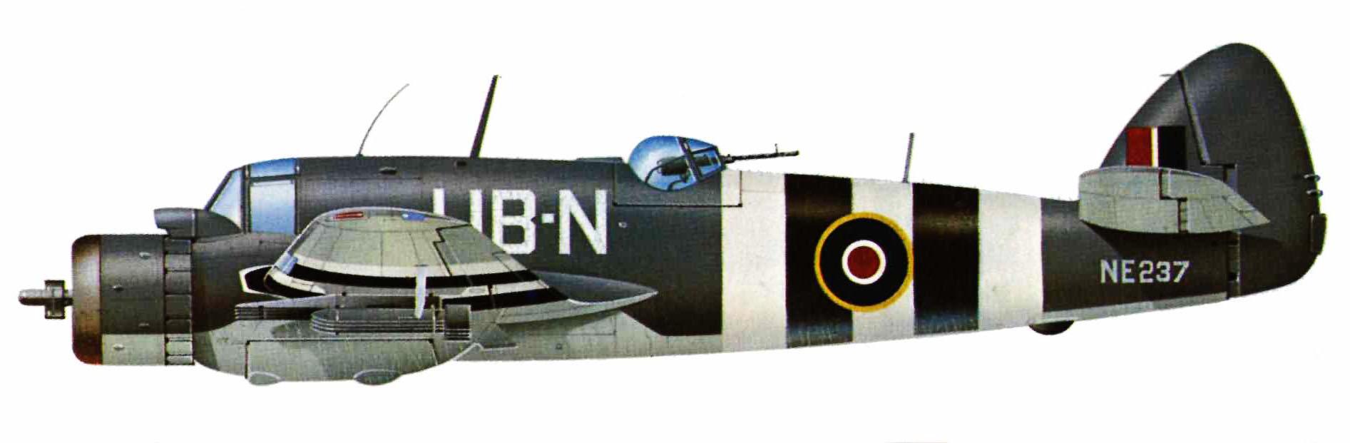 Beaufighter VIF RAAF 455Sqn UBN NE237 RAF Langham Norfolk June 1944 Profile 0A